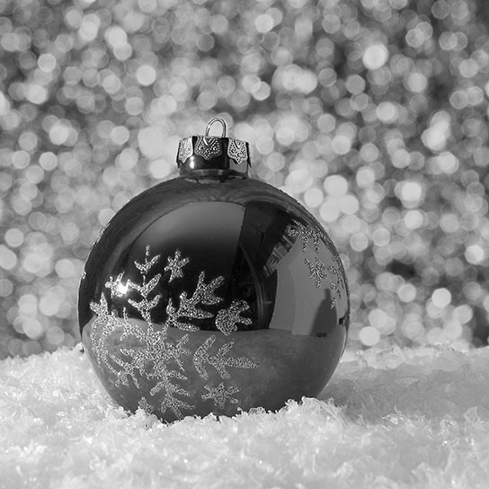 Secret Santa Slam & Head-To-Head Haiku (photo of ornament with snow flake)